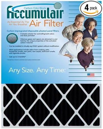 MERV 11 Air Filter//Furnace Filter Accumulair Platinum 13x24x1 Actual Size 3 Pack