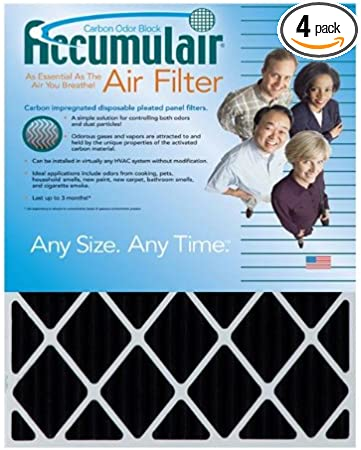 Accumulair Platinum 20x21x1 MERV 11 Air Filter//Furnace Filters 6 Pack Actual Size