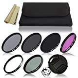 49mm Professional Lens Filter Accessory Kit for Sony NEX-5R, NEX-3, NEX-5, NEX-6, NEX-C3, NEX-5N, NEX-7, NEX-F3, NEX-VG10, NEX-VG20, NEX-VG30, NEXFS100, NEX-FS700, NEX-EA50E Interchangeable Lens Camera (with E-Mount 18-55mm, 30mm, 16mm, 24mm, 55-210mm, 50mm Lenses). Includes: Neutral Density Filter Set (ND2, ND4, ND8) + Filter Wallet Pouch + UV Protection Filter + CPL Filter + FLD Fluorescent Filt
