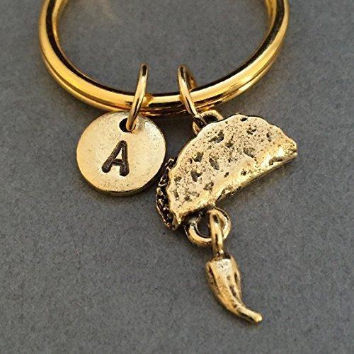 Hotdog keychain monogram hotdog charm personalized keychain initial keychain customized food keychain initial charm