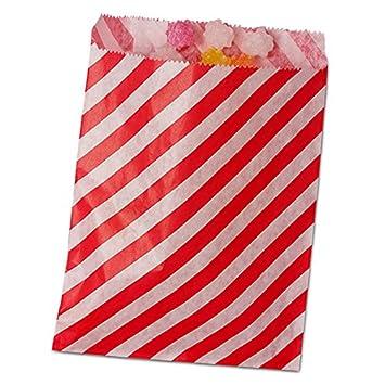 Amazon.com: Rojo bolsas de Candy de rayas 5 – 1/8