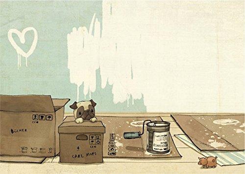 Carl Mops: Umzug (VE 10 Ex.): Postkartenset (Carl Mops Postkarten)