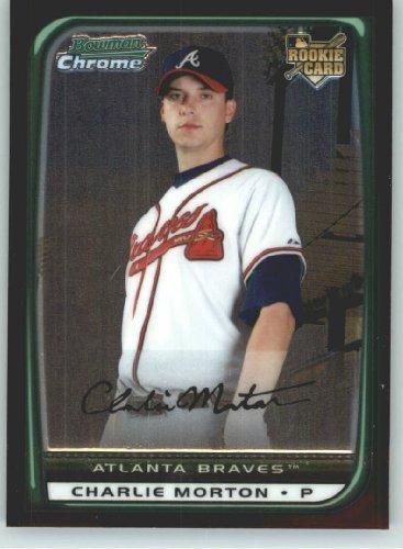 2008 Bowman Draft Chrome Baseball Cards # BDP51 Charlie Morton (RC - Rookie Card) Atlanta Braves - MLB Baseball Trading Card