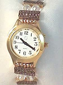 Amazon Com Ladies Talking Wrist Watch Gold Tone With