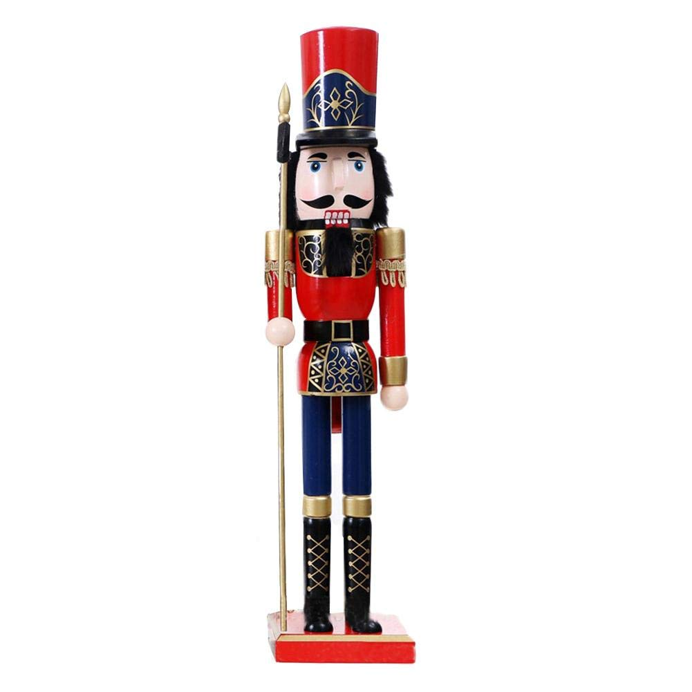 60cm Soldatini Schiaccianoci Regalo Ornamento Burattini Figure Bambole Giocattolo Decorazione natalizia Regalo di Natale per bambini Keptfeet