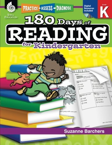 180 Days of Reading for Kindergarten (Ages 4 - 6) Easy-to-Use Kindergarten Workbook to Improve Reading Comprehension Quickly, Fun Daily Phonics Practice for Kindergarten Reading (180 Days of Practice) cover