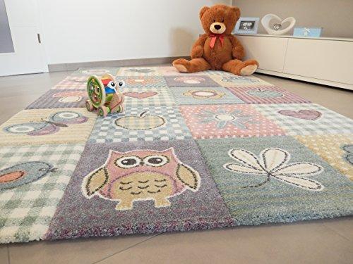 Amazon De Anka Design Kinder Teppich Schmetterling Eule