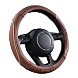 CAR PASS zt-0071 Universal Line Rider Cayenne Leather Steering Wheel Cover