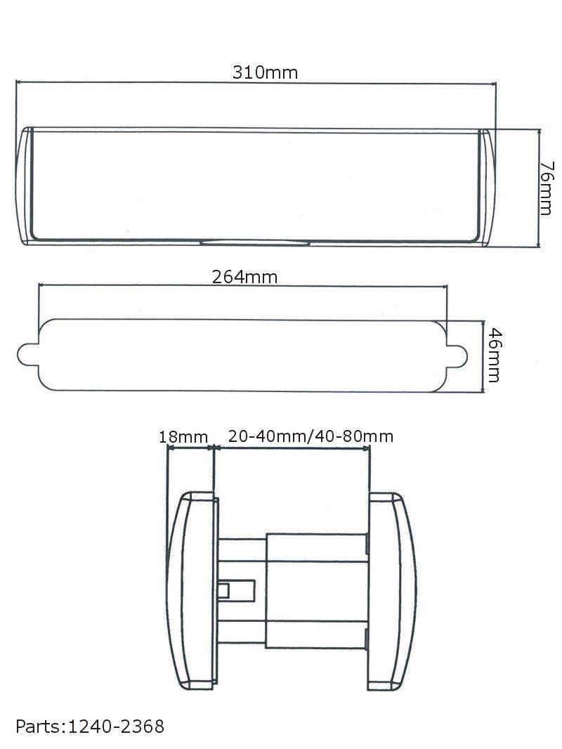 Mila /Espl/éndido y resistente buz/ón para puerta de madera dise/ñado en 6/colores de UPVC