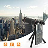 Phone Camera Lens, 22X Zoom Telephoto Lens for iPhone, Double Regulation Cell Phone Lens with Tripod & Remote Shutter, Compatible iPhone X XS Max XR/8/7/6/6s Plus Samsung Huawei Andriod