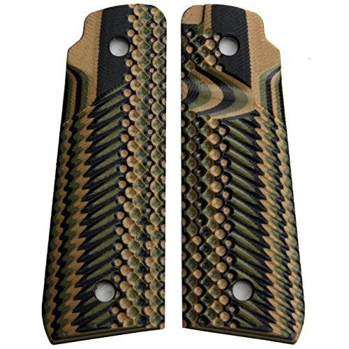 StonerCNC Ruger Mark IV 22/45 Lite Grips G10 Slash and Burn Design Fits Ruger 22 45 Lite Generation 4 Rimfire Pistol (Mil Spec Camo) (Rimfire Pistol 22)