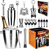 Bar Set Kit by 34andMore - Professional 17 Piece Cocktail Barware Set