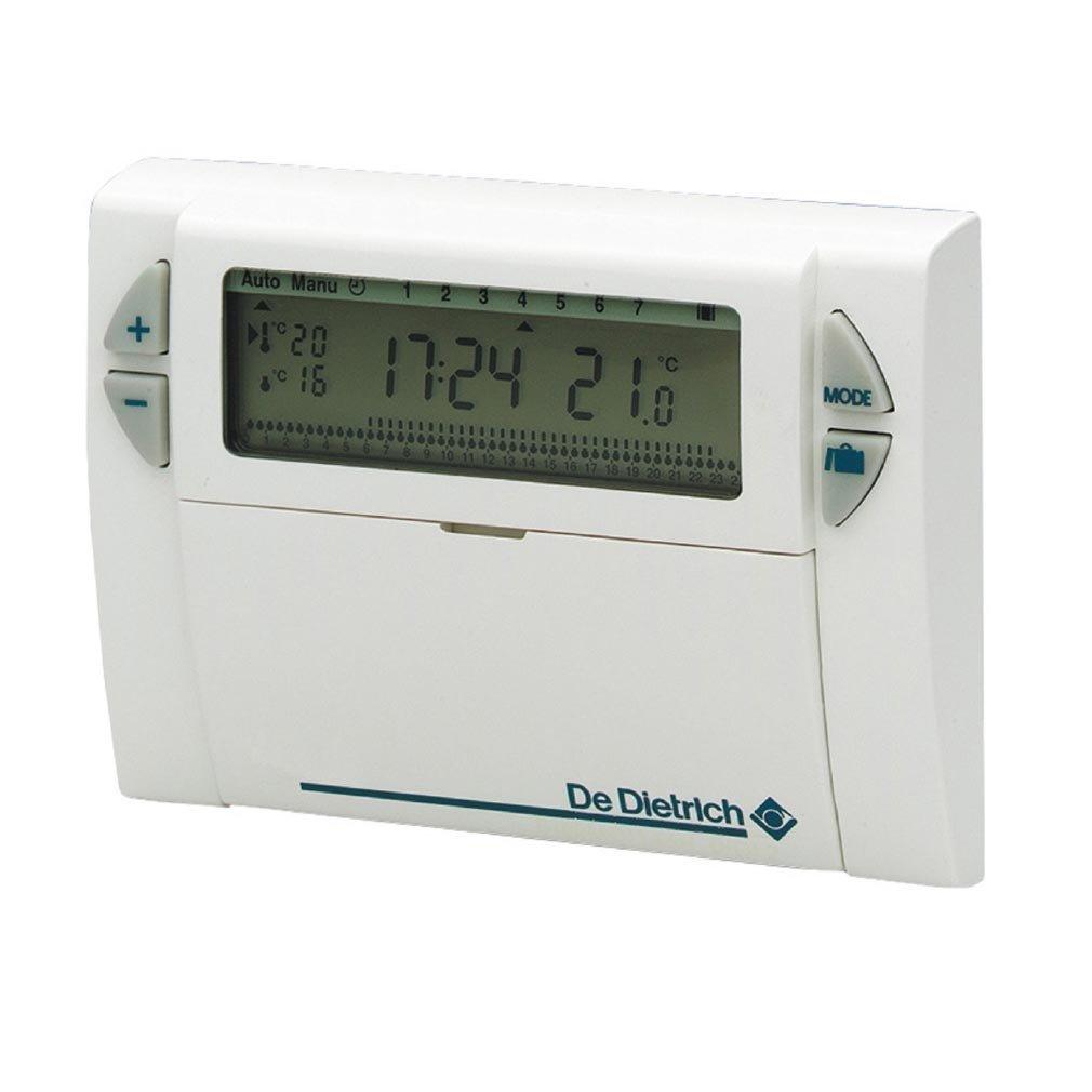 Thermostat d'ambiance DE DIETRICH AD 137 digital programmation hebdomadaire filaire compatible toutes chaudiè res