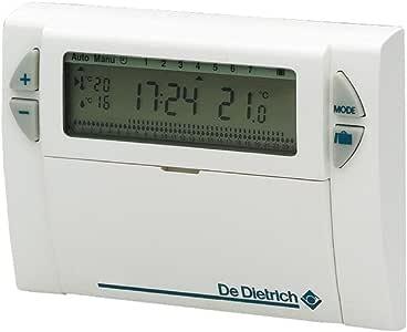 De Dietrich AD 137 - Termostato de ambiente digital, programación semanal, con cable compatible con todas las calderas: Amazon.es: Bricolaje y herramientas