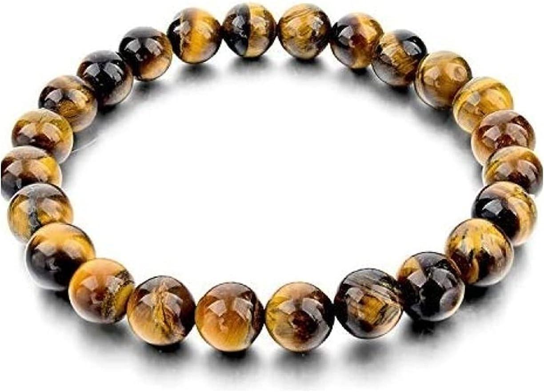 8MM 10MM Natural Tiger Eye Stone Gemstone Beads Men Jewelry Bracelet Bangle F3G0