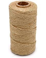 328 pieds naturelles Ficelle en jute,corde de jute,Ficelles de jardinage, Arts Artisanat Ficelle d'emballage industriel matériaux Durable corde pour les applications de jardinage