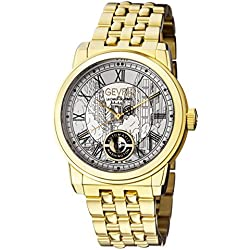 Gevril Men's 'Washington' Swiss Automatic and Stainless-Steel Casual Watch, Color:Gold-Toned (Model: 2622B)