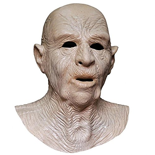 (COMLZD Realistic Male Man Latex Mask Old Man Disguise Halloween Rubber Party Face Mask Costumes)