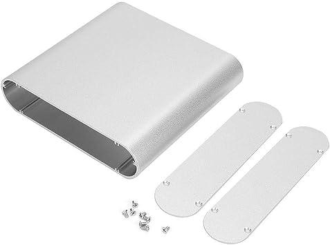 Black Aluminum Printed Circuit Board Instrument Box Enclosure Electronic Case C//