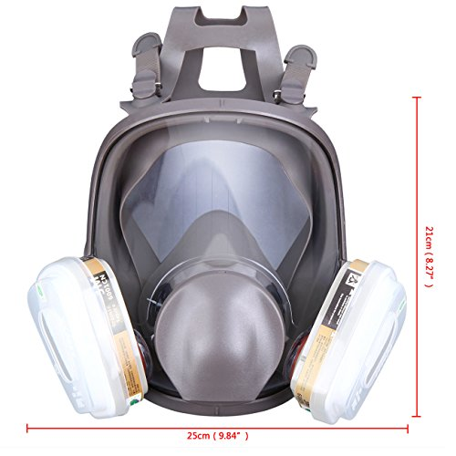 Yunge Full Face Respirator Gas Mask For 6800 Painting Spraying(15 in 1)Facepiece Respirator- Industrial Grade Quality by YungeEquipmentUS (Image #5)