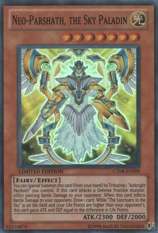 Yu-Gi-Oh! - Neo-Parshath, the Sky Paladin (CT08-EN009) - 2011 Collectors Tins - Limited Edition - Super (Sky Mint Tin)