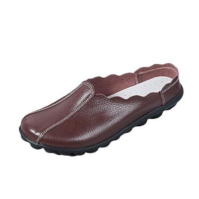 JRenok Frauen Schuhe Damen Leisure Shoes Flats Bean Weiche Boden Sandalen Non-Skid-Plattformen 35-43