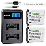 Kastar Battery (X2) & LCD Dual Slim Charger for Nikon EN-EL10 MH-63 and Nikon Coolpix S60, S80, S200, S210, S220, S230, S500, S510, S520, S570, S600, S700, S3000, S4000, S5100 + More Camera