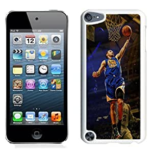 Personalized Ipod Touch 5 Case,Easy Use Ipod 5th Case Design with Golden State Warriors Stephen Curry Cell Phone Case for Ipod Touch 5 5th Generation in White
