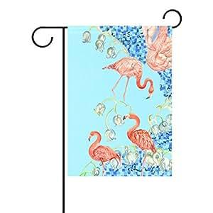 """ALIREA Watercolor Flamingo Polyester Garden Flag,12"""" x 18"""" ,Outdoor Flag, Home Party Garden Decor"""
