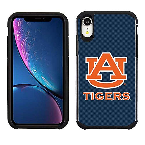 Prime Brands Group Cell Phone Case for Apple iPhone XR - Blue/Black - NCAA Licensed Case for Auburn Tigers Auburn Tigers Cell Phone Case