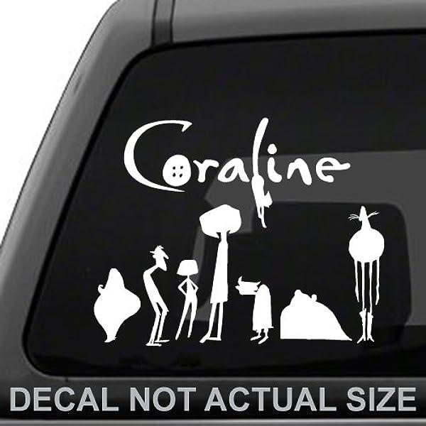 Amazon Com White Ink Decals Coraline Family Stephen Jones Coraline Decal Sticker Car Truck Laptop Tablet Automotive