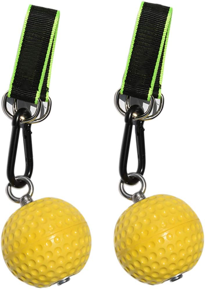 Fitness Climbing Pull Up Power Ball Hold Grips 2 X Pull Up Ball,2 X Lanyard,2 X Steel Buckle Kettlebells Durable and Non-Slip Hand Grips Strength Trainer Exerciser for Pull-up Workout