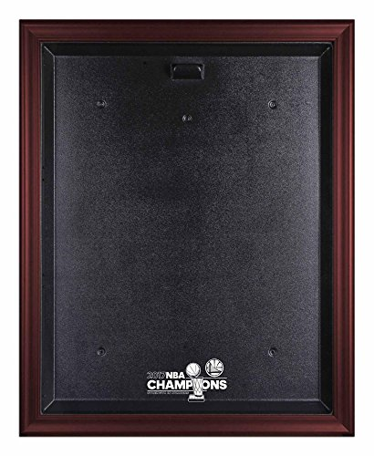 Golden State Warriors 2017 NBA Finals Champions Logo Mahogany Framed Jersey Display Case - Fanatics Authentic Certified by Sports Memorabilia