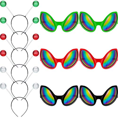 12 Pieces Alien Glasses and Antenna Headband
