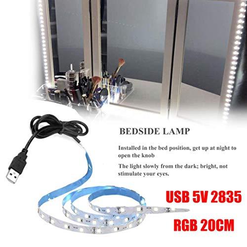 rsd USB 5V 2835 12SMD 20CM RGB LED Strip Light Bar TV Back Lighting Kit ()