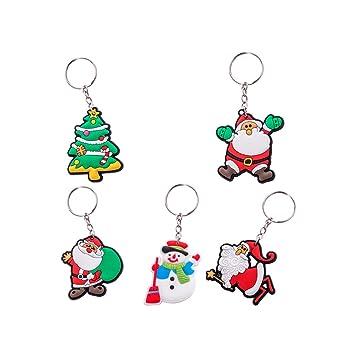 Toyvian 15 unids Santa muñeco de Nieve árbol de Silicona ...