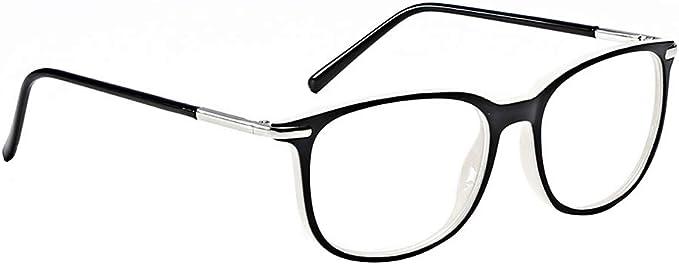 TIJN Retro Rund Brille Ohne Sehst/ärke Brillengestelle Metallrahmen Brillenketten Brillen mit UV400-Schutz