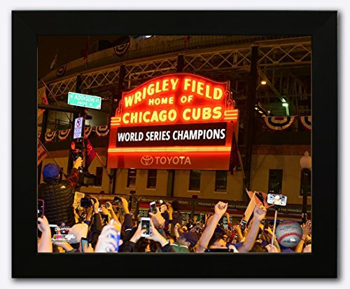 Framed Chicago Cubs - 2016 World Series Champions! Wrigley Field Marquee! 8x10 Photo Picture