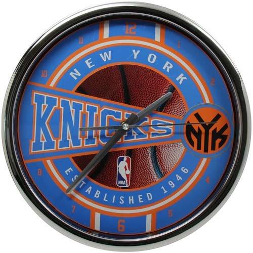 NBA New York Knicks Official Chrome Clock, Multicolor, One Size (Coaster Clock)