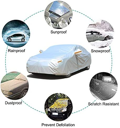 Full Car Covers Compatible with Vauxhall COMBO LIFE All Weather Protection Auto Protector Waterproof Full Exterior Covers Automobile Sun Protecting Cover Car Shelters Outdoor UV Protection Car Defende