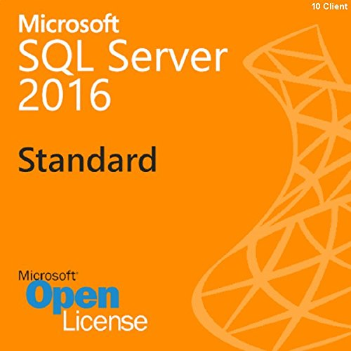 Price comparison product image SQL Server 2016 Standard / Retail Sealed / with 10 CAL
