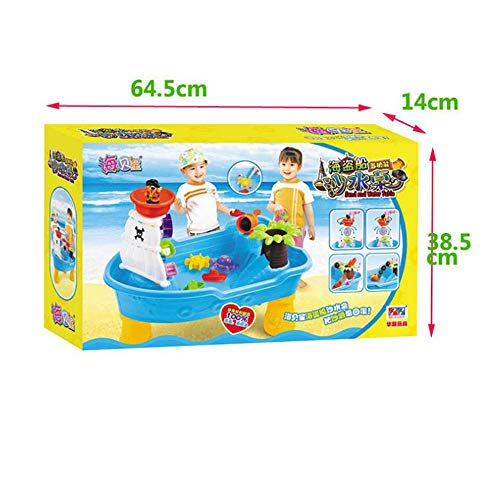 Kids Beach Sea Pirate Ship Toys, Creative Puzzle Toys Pirate Ship Beach Table Pool Table Outdoor Play Large Toy Travel Kids Toy Set by Pandady (Image #3)