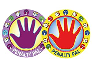 Penalty Pal- Time Out Spot for Kids, Removable Wall Decal (Red/Purple)