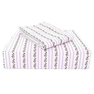 Amazon.com: Laura Ashley Twin Sheet Set - Paige Pink ...