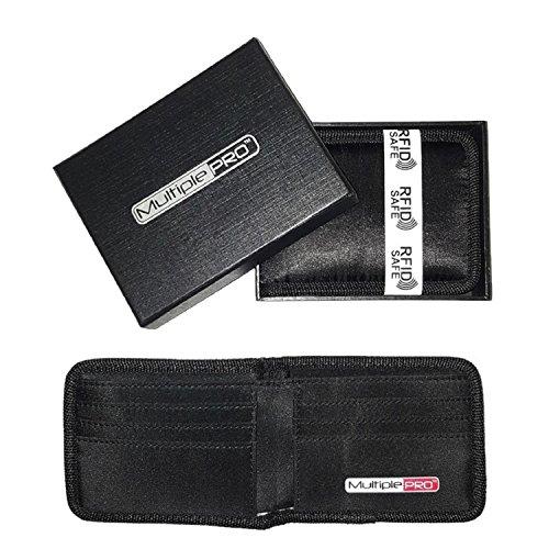 MultiplePRO Men's Memory Foam RFID Blocking Wallet, Black