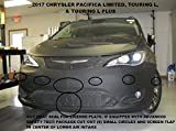 #8: Lebra 2 piece Front End Cover Black - Car Mask Bra - Fits - 2017 17 Chrysler Pacifica Limited, Touring L & Touring L Plus only