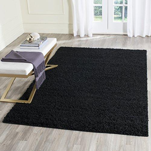 Safavieh Athens Shag Collection SGA119K Black Area Rug (6' x 9') (Black Safavieh Shag Rug)