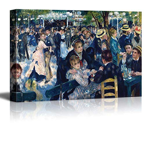 YEHO Art Gallery Canvas Prints Wall Art Oil Paintings Wall Decor for Livingroom Bedroom Office Bal du Moulin de la Galette by Pierre Auguste Renoir Giclee Artwork 8