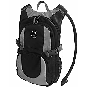 Sports Imagery-Hydration Backpack, 3 Liter – Black and Gray