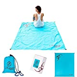 Picnic Beach Pocket Blanket | Waterproof & Sand Proof Outdoor Blanket | Compact Ultralight Travel Blanket | Portable Lightweight Large 70'x56′ Dimensions Soft Blanket | Matching Accessories Included